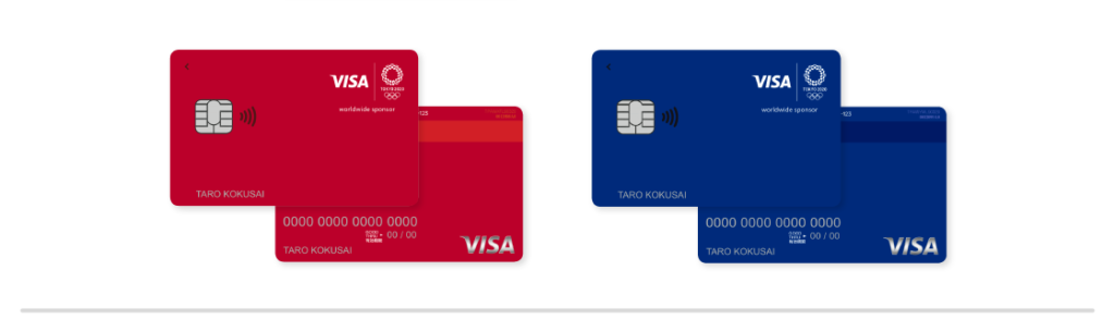 Visa LINE Pay クレジットカード 東京2020オリンピックエンブレムデザイン